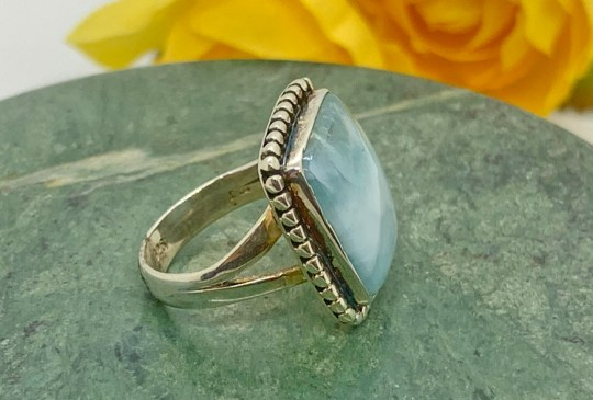 Larimar in Sterling Silver Ring Size 6