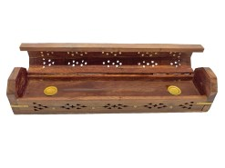 Star Wooden Box Incense Burner