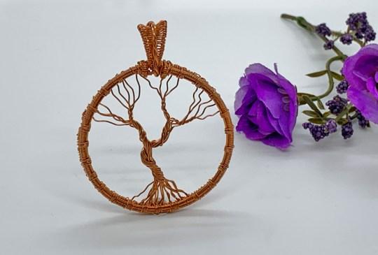 3D Copper Tree of Life Pendant