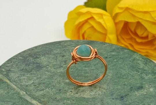 Amazonite Copper Ring