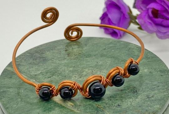Black Jasper in Copper Bracelet