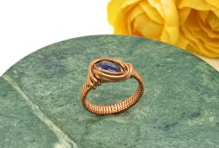 Blue Kyanite Copper Ring