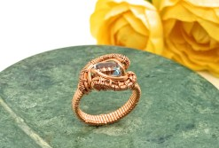 Blue Topaz Copper Ring