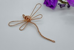 Dragonfly in Copper Pendant