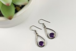 Alexandrite in Sterling Silver Earrings