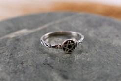 Petite Pentagram in Sterling Silver Ring