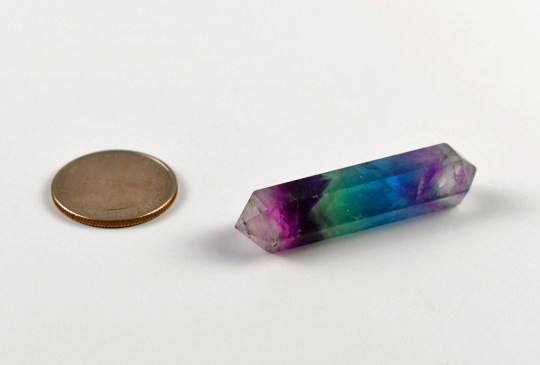 Small Double Terminated Purple Fluorite Point