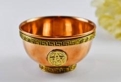 Pentagrem Copper Offering Bowl
