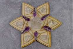 Celtic Star Crystal Grid with Stones