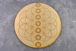 Flower of Life Chakra Crystal Grid