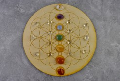 Flowr of Life Chakra Crystal Grid