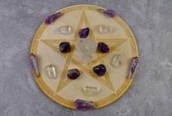 Pentagram Crystal Grid with Stones