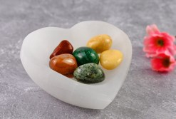 Selenite Heart Shaped Charging Bowl