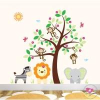 Deluxe Safari Nursery Wall Art Stickers