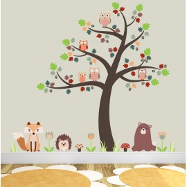 Girl Room Wallpaper And Fablic With Animal Woodland Animals Nursery Room Themed Accessories Ideal For