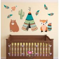 Tribal Animal Nursery Wall Art Stickers