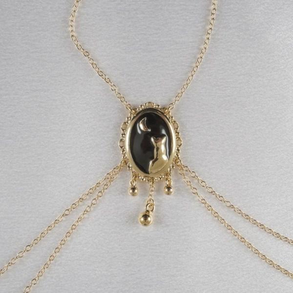 Women Moonlight Cameo -piercing Nipple Necklace