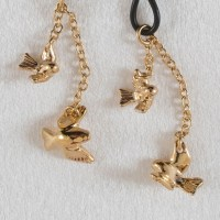 Birds In Flight Gold Non Piercing Nipple Rings