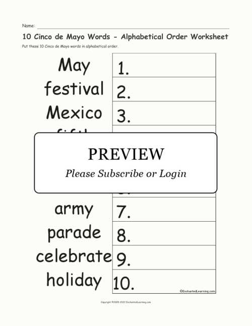 small resolution of Free Cinco De Mayo Worksheets 2nd Grade   Printable Worksheets and  Activities for Teachers