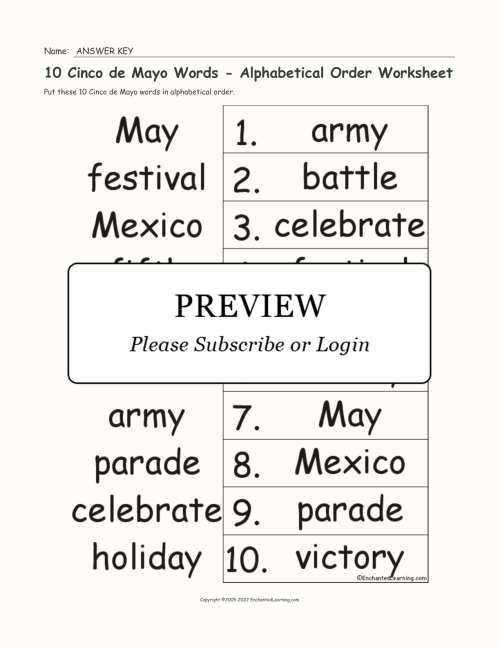small resolution of Free Cinco De Mayo Worksheets For 2nd Graders   Printable Worksheets and  Activities for Teachers