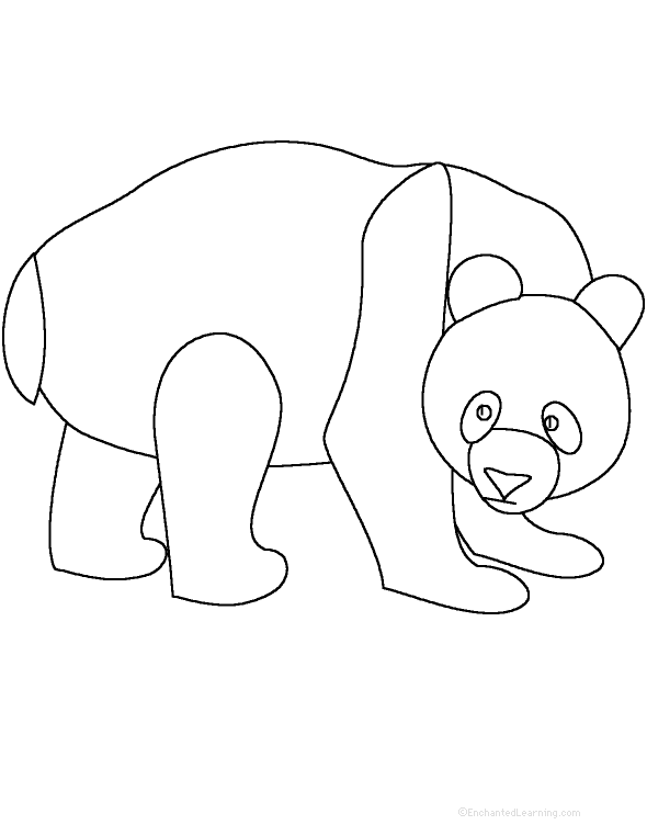 Pandas at EnchantedLearning.com