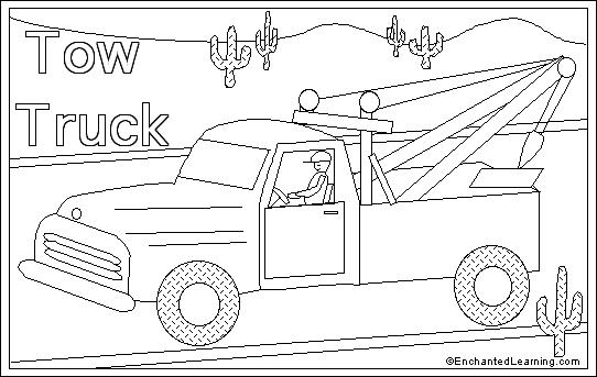 Tow Truck Pages Coloring Pages