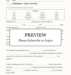 Halloween Cloze Activity - Enchanted Learning [ 2112 x 1632 Pixel ]