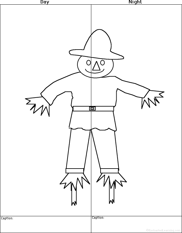 Scarecrow Activities at EnchantedLearning.com