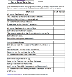 Fact or Opinion? Checkmark Worksheets to Print - EnchantedLearning.com [ 1649 x 1275 Pixel ]