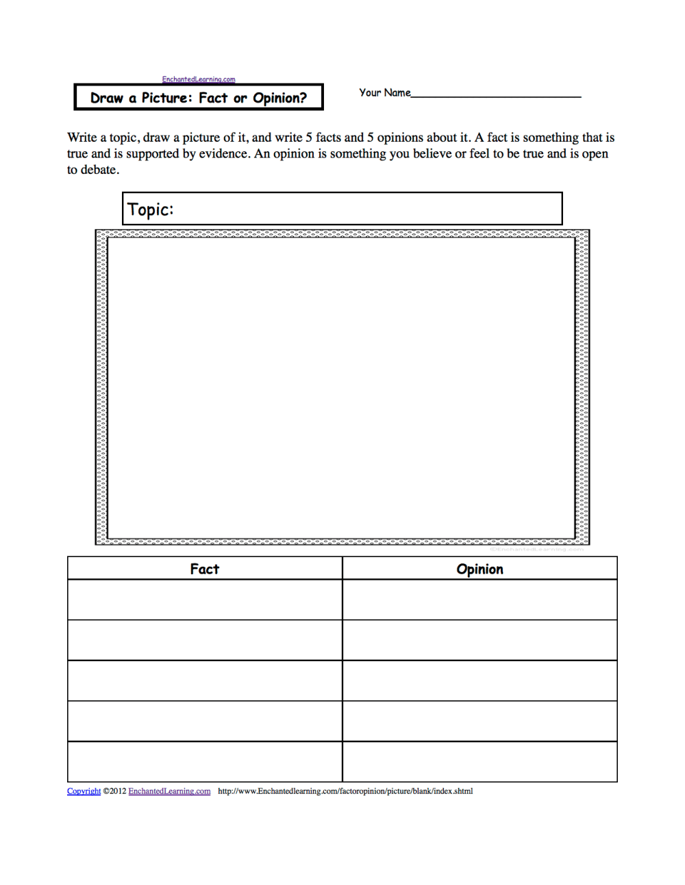 medium resolution of Fact or Opinion? Worksheets to Print - EnchantedLearning.com