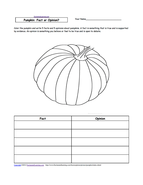 small resolution of Picture: Fact or Opinion? Worksheets to Print - EnchantedLearning.com