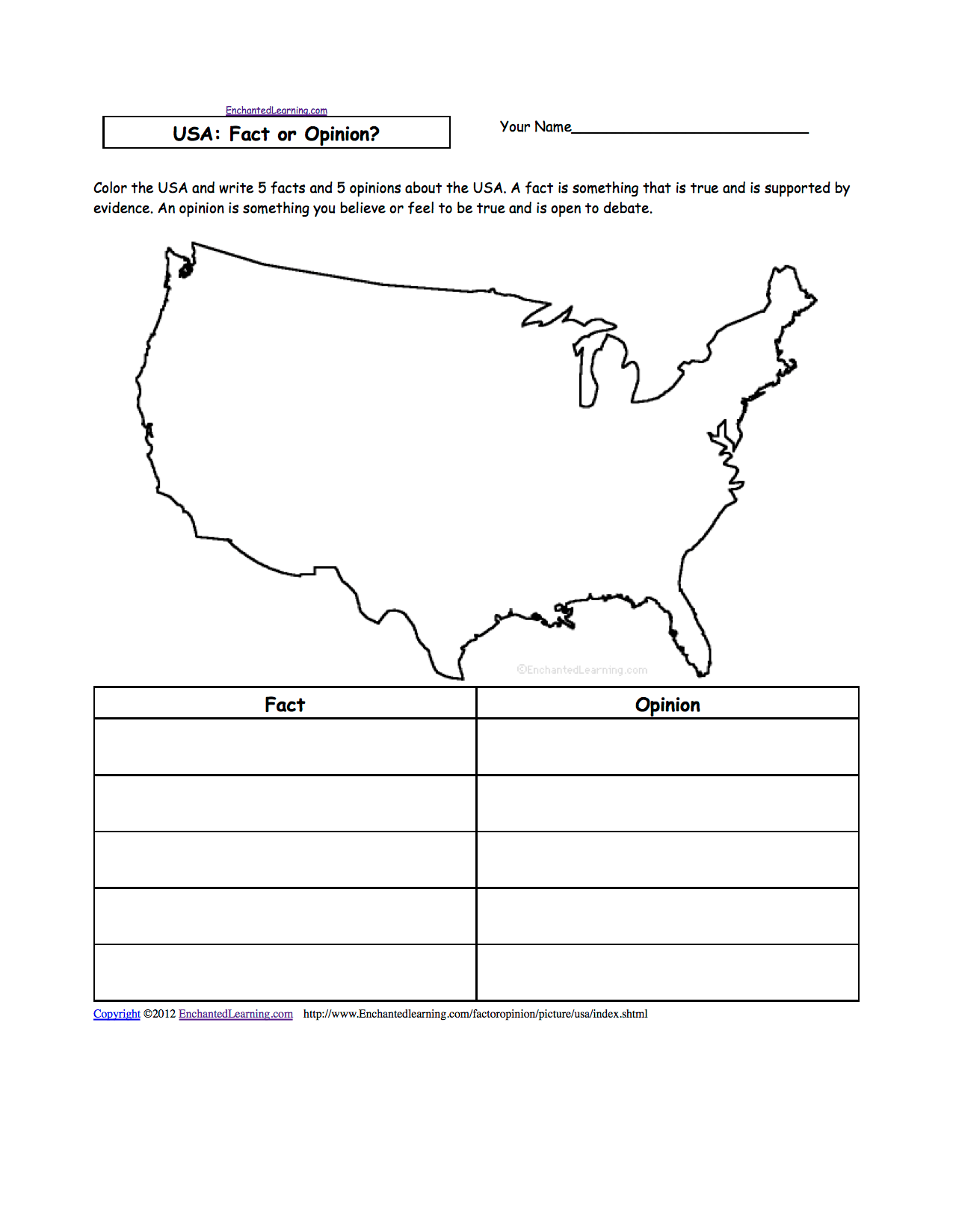 Us Geography Worksheets Printable