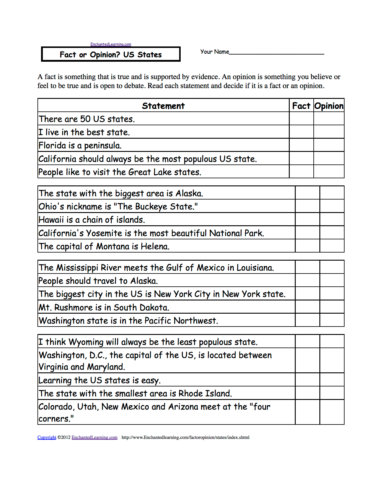 United States History Worksheets For 5th Grade