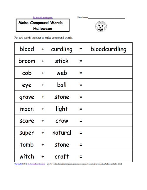 small resolution of Halloween Activities: Spelling Worksheets - EnchantedLearning.com