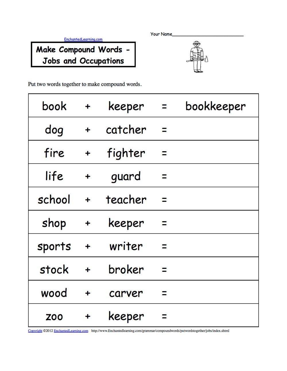 medium resolution of Make Compound Words
