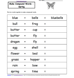 Spelling Worksheets: Spring Theme Page at EnchantedLearning.com [ 1649 x 1275 Pixel ]