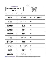 Make Compound Words, Printable Worksheets ...