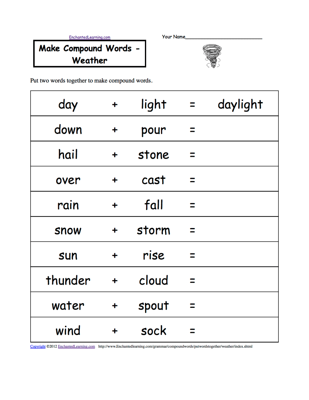 medium resolution of Weather-Related Spelling Activities and Worksheets at EnchantedLearning.com