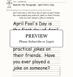April Fools Worksheets   Printable Worksheets and Activities for Teachers [ 2112 x 1632 Pixel ]