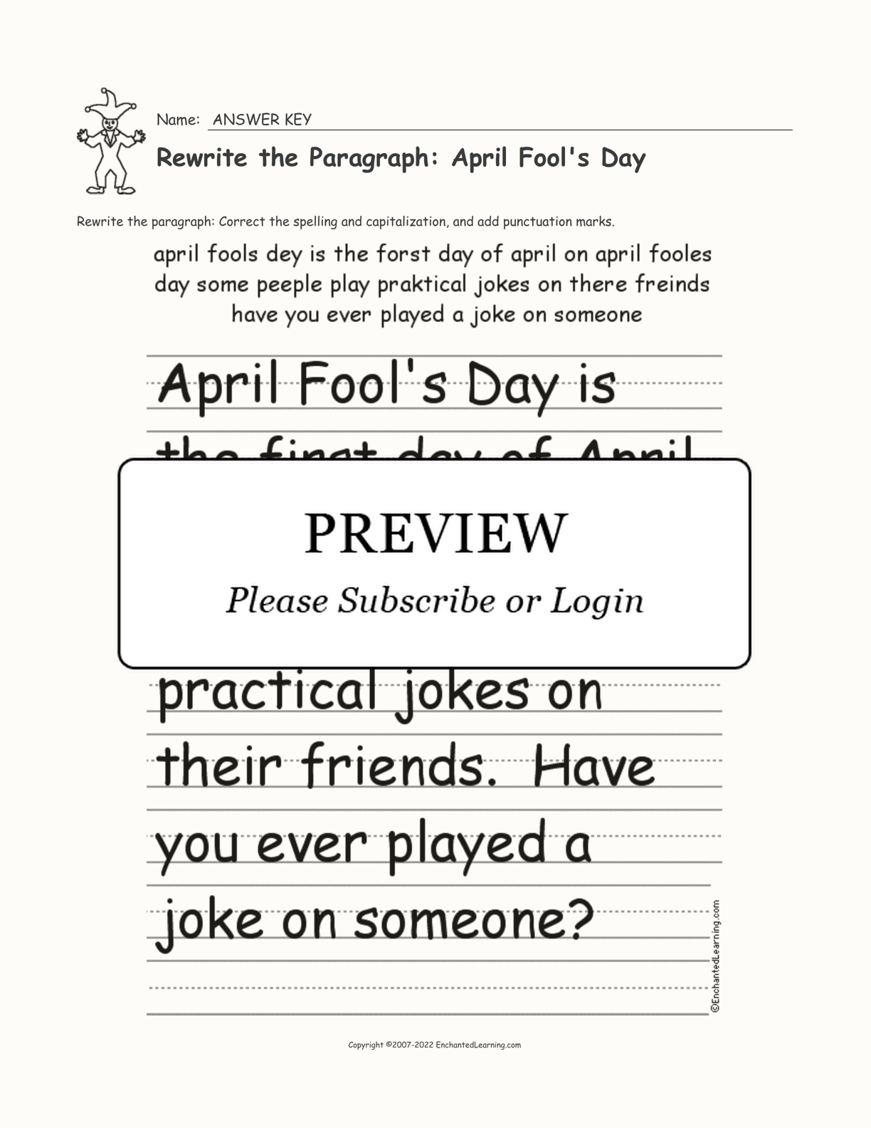 hight resolution of April Fools Worksheets   Printable Worksheets and Activities for Teachers