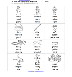 Pick the Apt Adjective Worksheets to Print - EnchantedLearning.com [ 1649 x 1275 Pixel ]