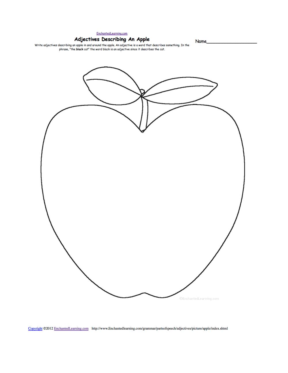 medium resolution of Apples at EnchantedLearning.com