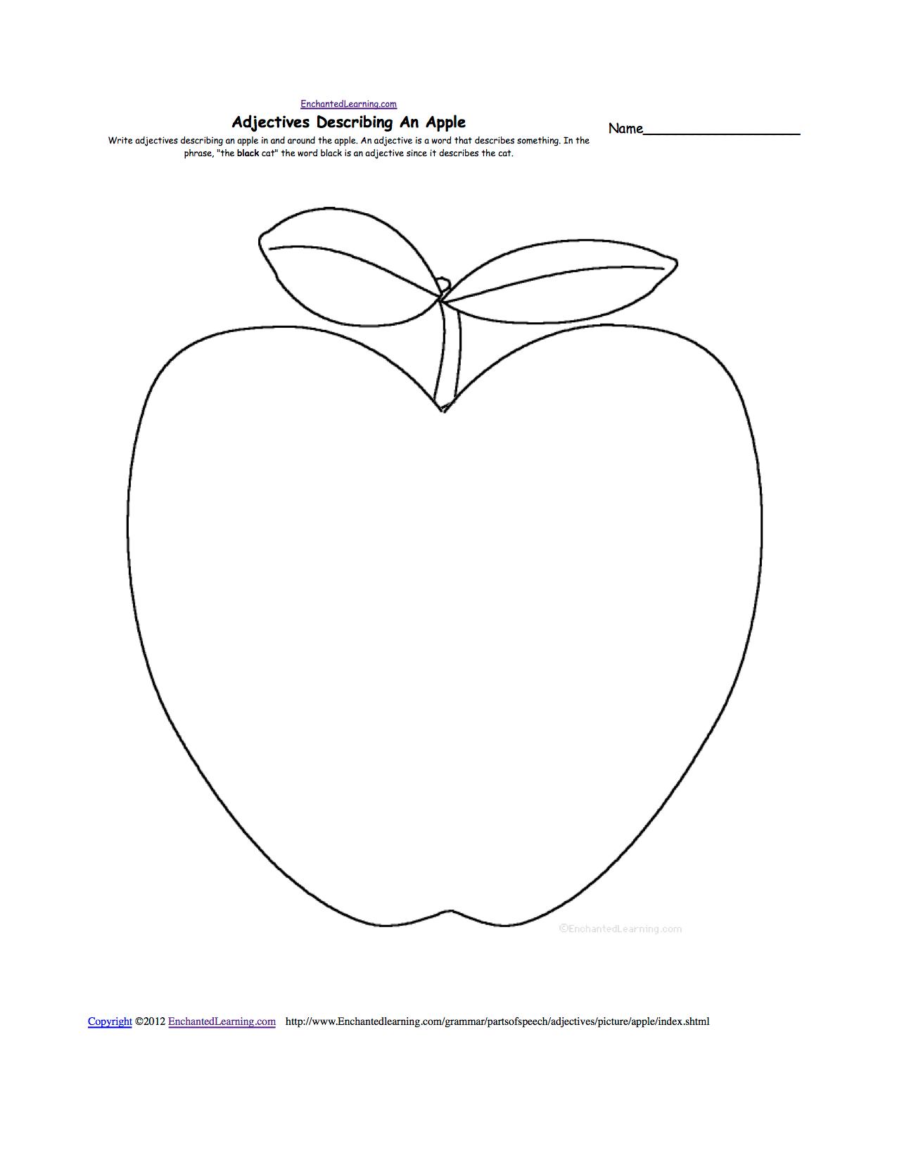 hight resolution of Apples at EnchantedLearning.com