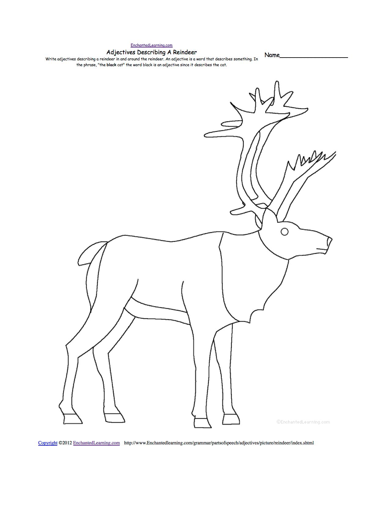 Reindeer At Enchantedlearning