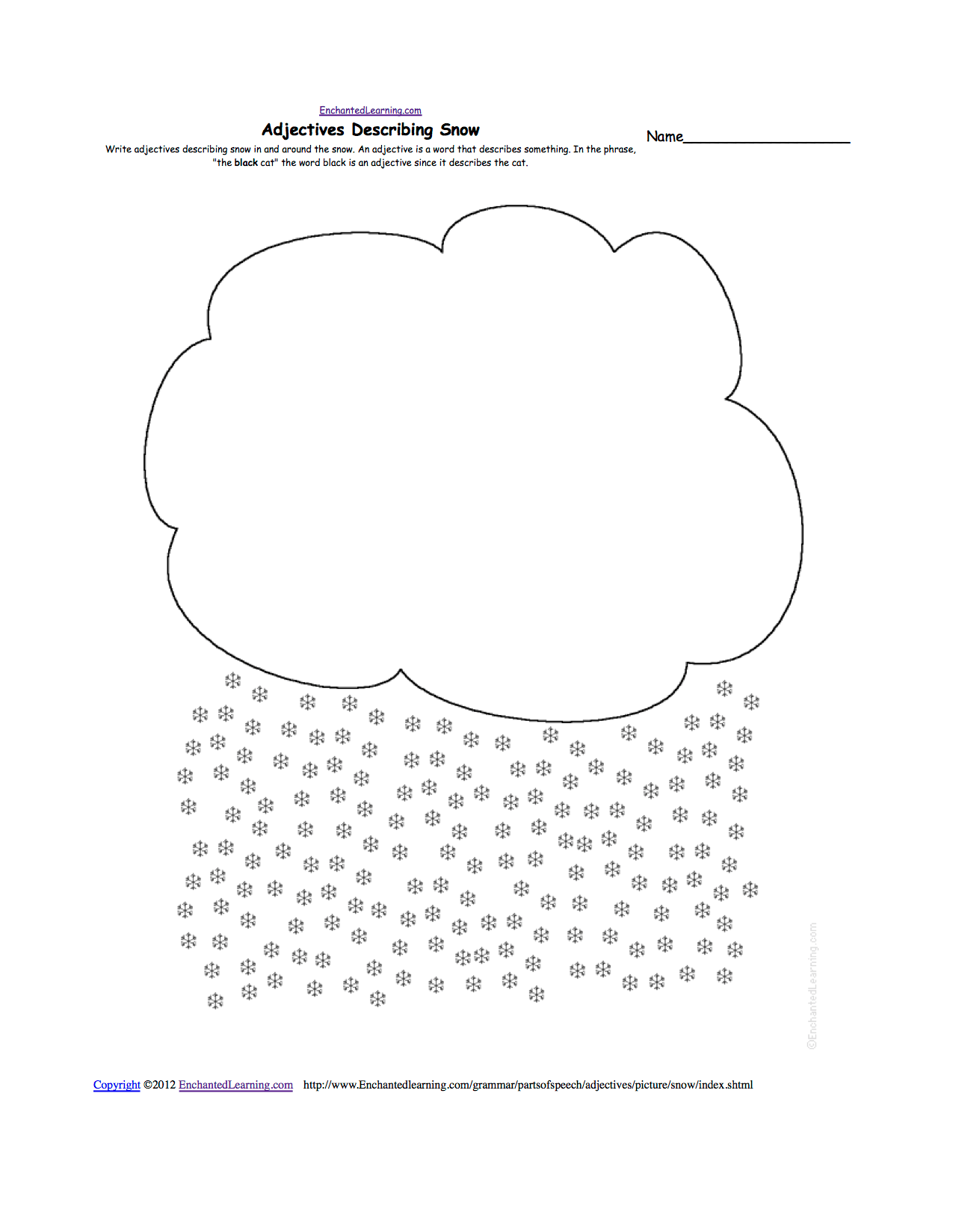 Comparative Weather Worksheet