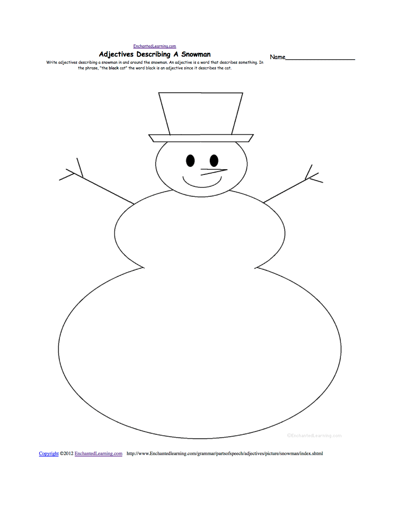 Writing Worksheets Snow K 3 Theme Page At