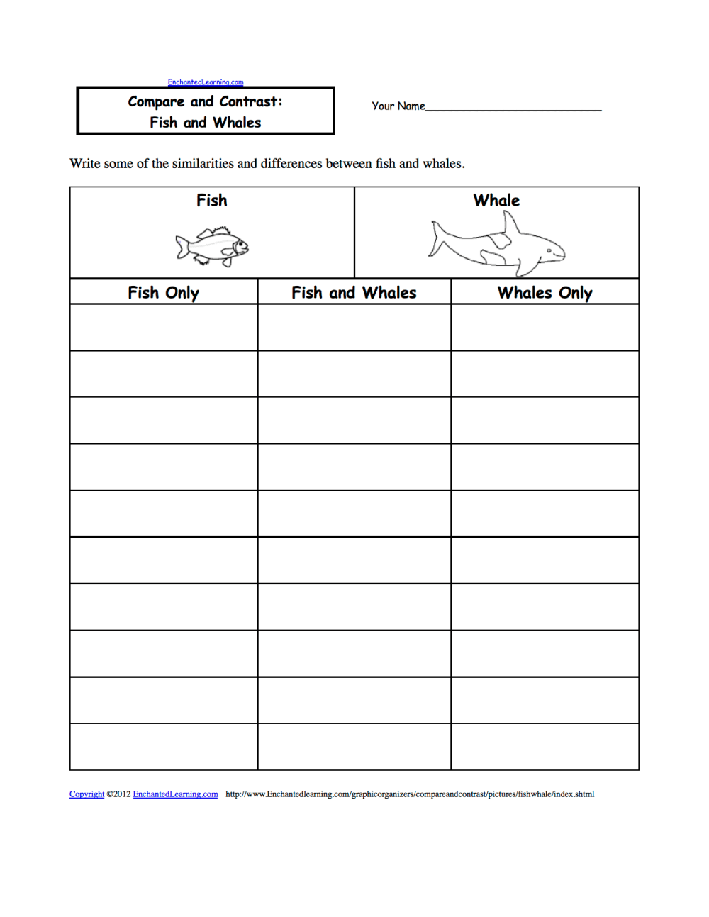 medium resolution of Compare and Contrast Graphic Organizers - EnchantedLearning.com