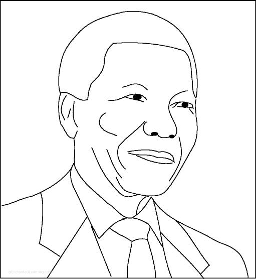 Nelson Mandela Printout with Short Biography