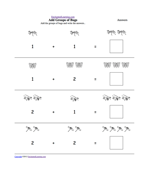 small resolution of Addition Worksheets - Enchanted Learning