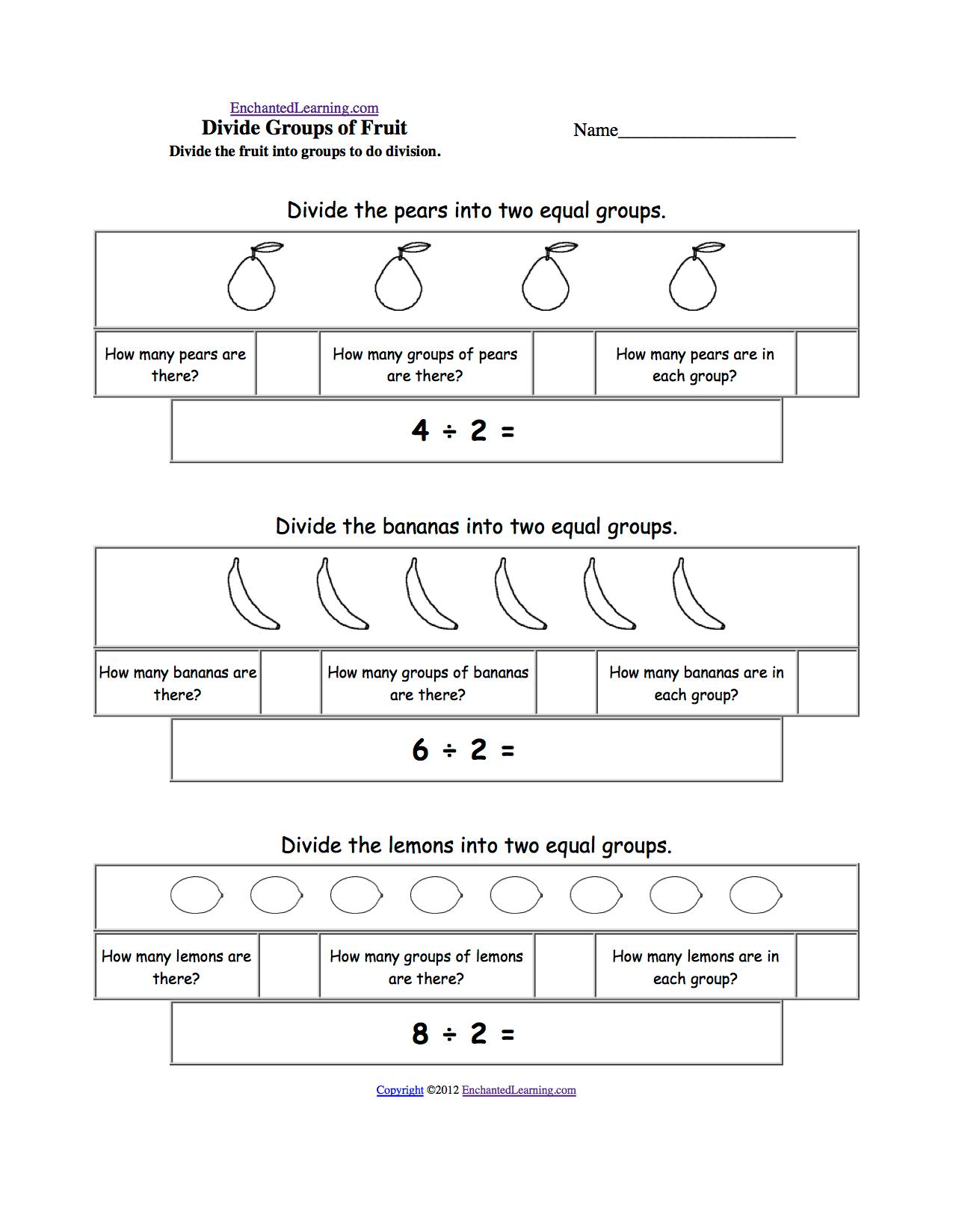 Visual Division Printouts